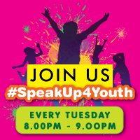 #SpeakUp4Youth Tues 8-9pm